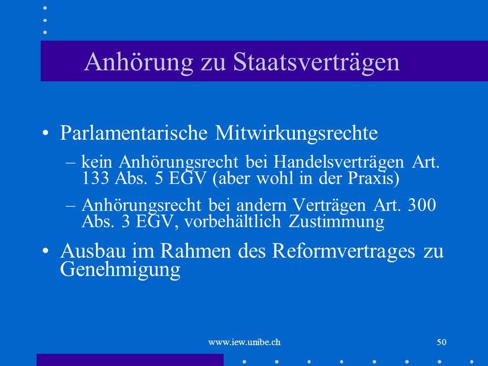 Anhörung zu Staatsverträgen