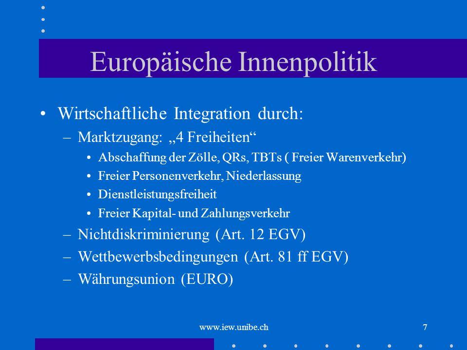 Europäische Innenpolitik