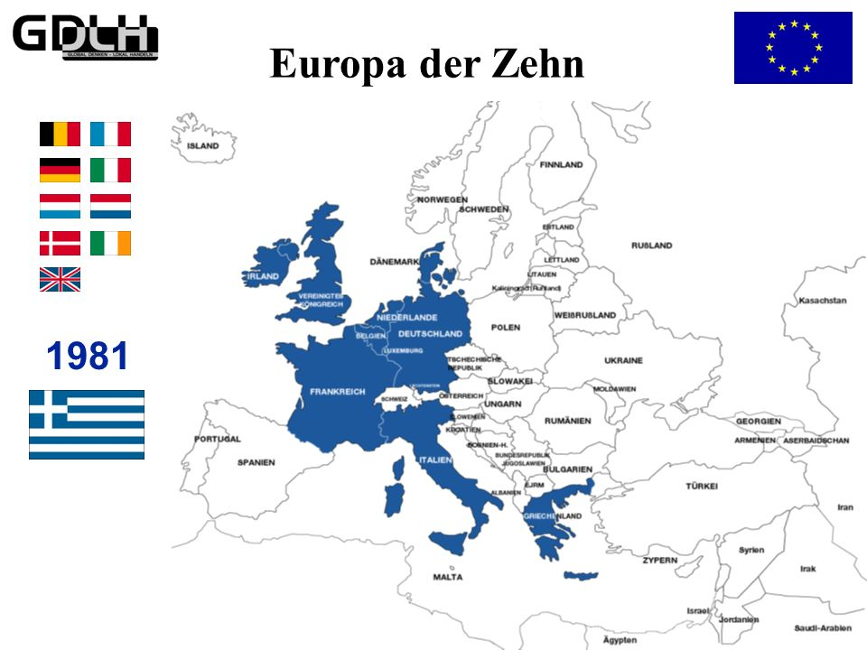 Das Europa der Zehn Europa der Zehn 1981