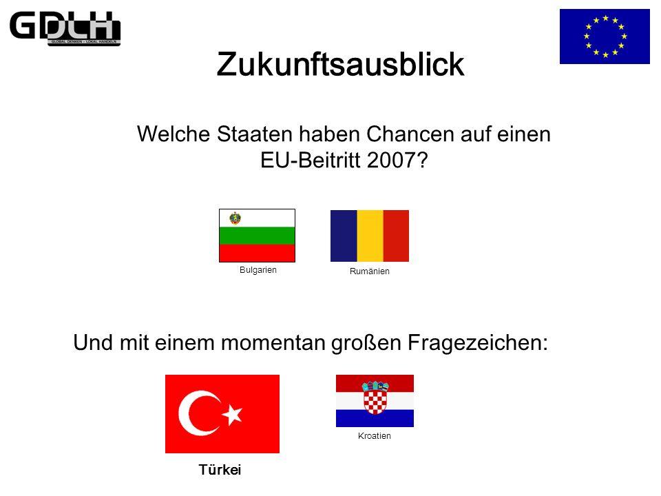 Welche Staaten haben Chancen auf einen EU-Beitritt 2007