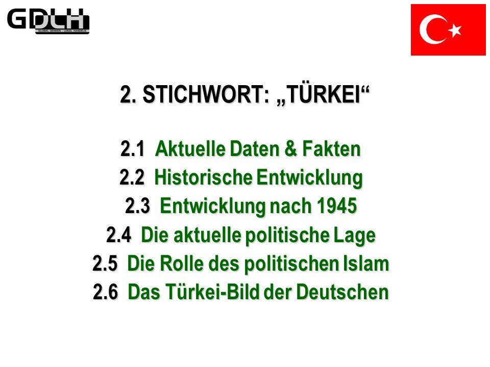 """2. STICHWORT: """"TÜRKEI 2.1 Aktuelle Daten & Fakten"""