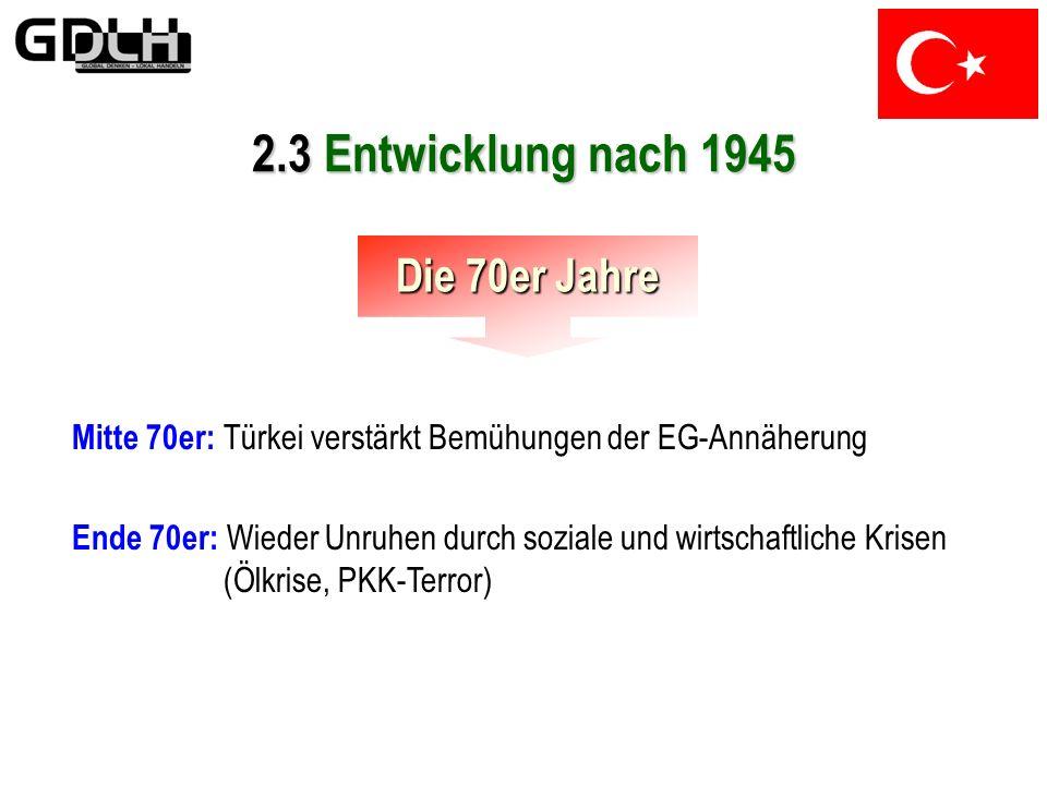 2.3 Entwicklung nach 1945 Die 70er Jahre