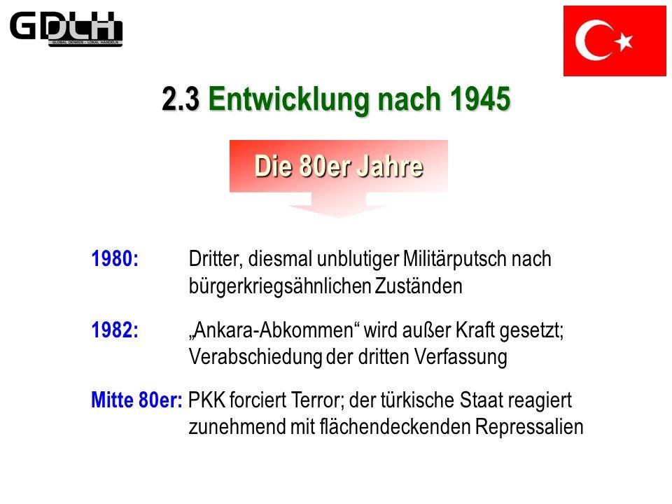 2.3 Entwicklung nach 1945 Die 80er Jahre