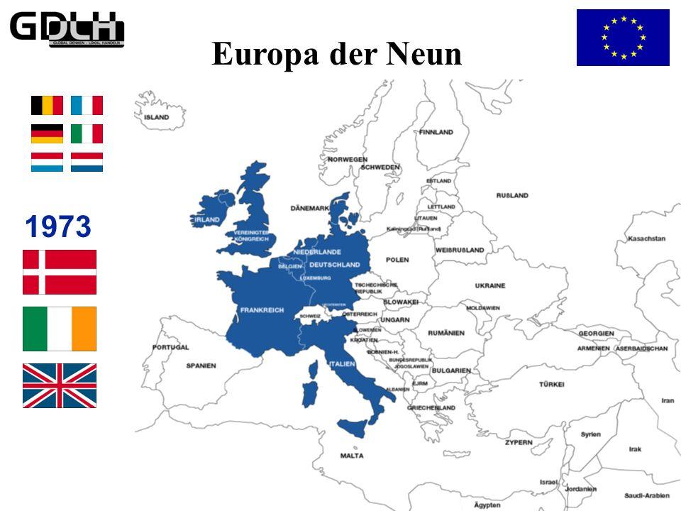 Das Europa der Neun Europa der Neun 1973