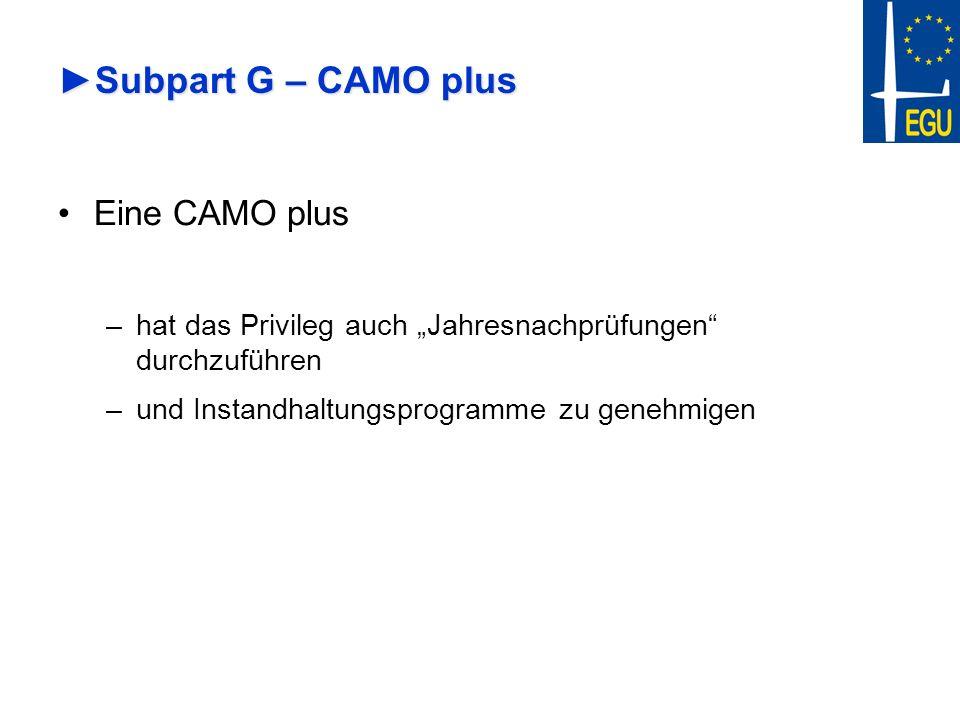 Subpart G – CAMO plus Eine CAMO plus