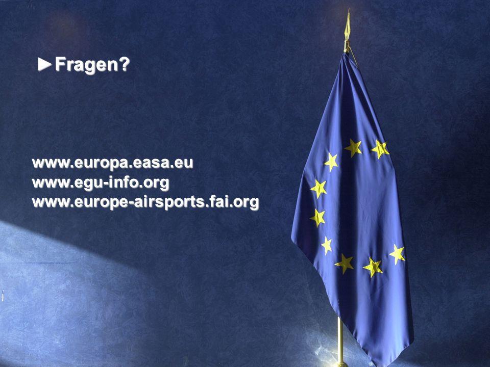 Fragen www.europa.easa.eu www.egu-info.org
