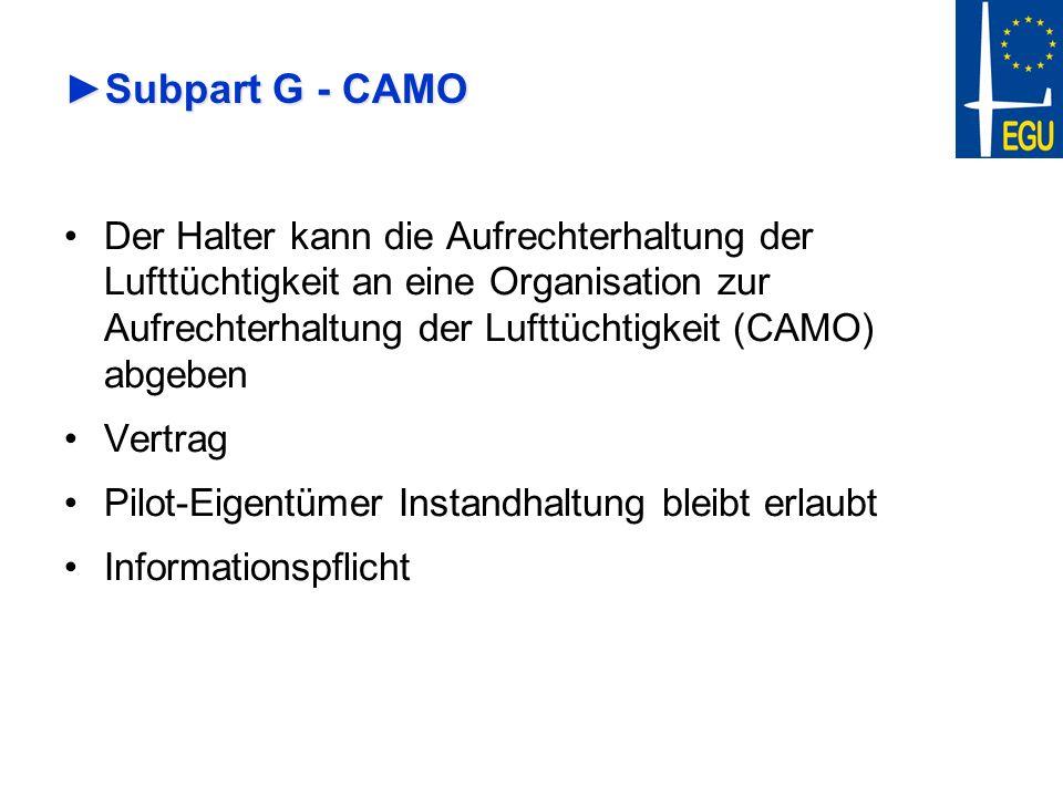 Subpart G - CAMO