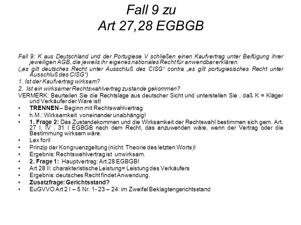 Fall 9 zu Art 27,28 EGBGB