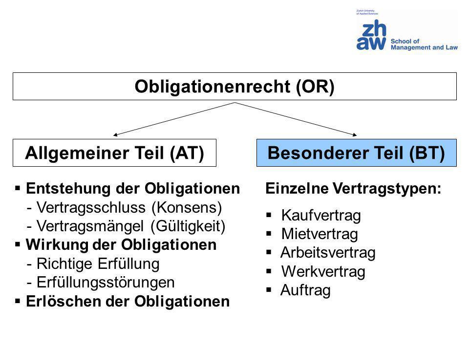Obligationenrecht (OR)
