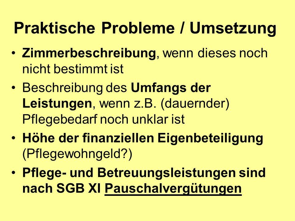 Praktische Probleme / Umsetzung