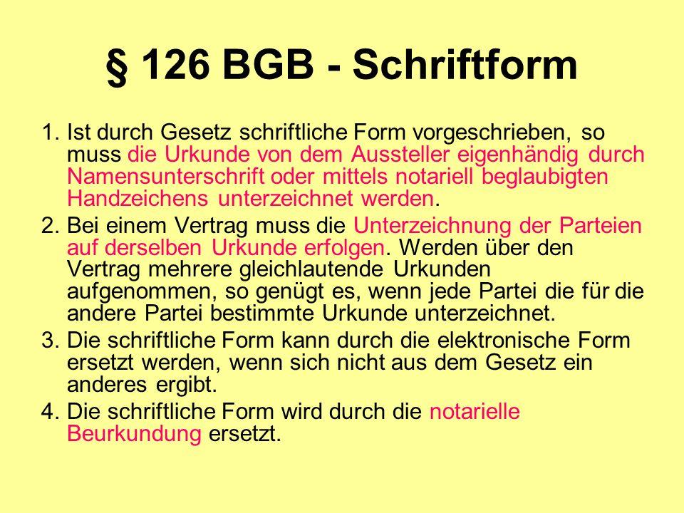 § 126 BGB - Schriftform