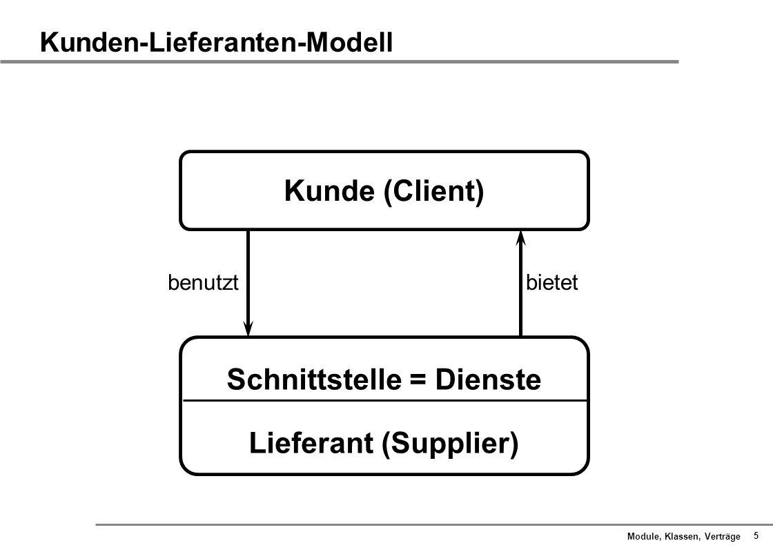 Kunden-Lieferanten-Modell