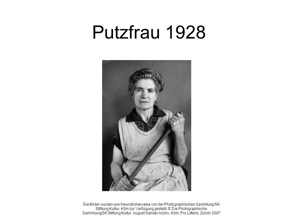 Putzfrau 1928