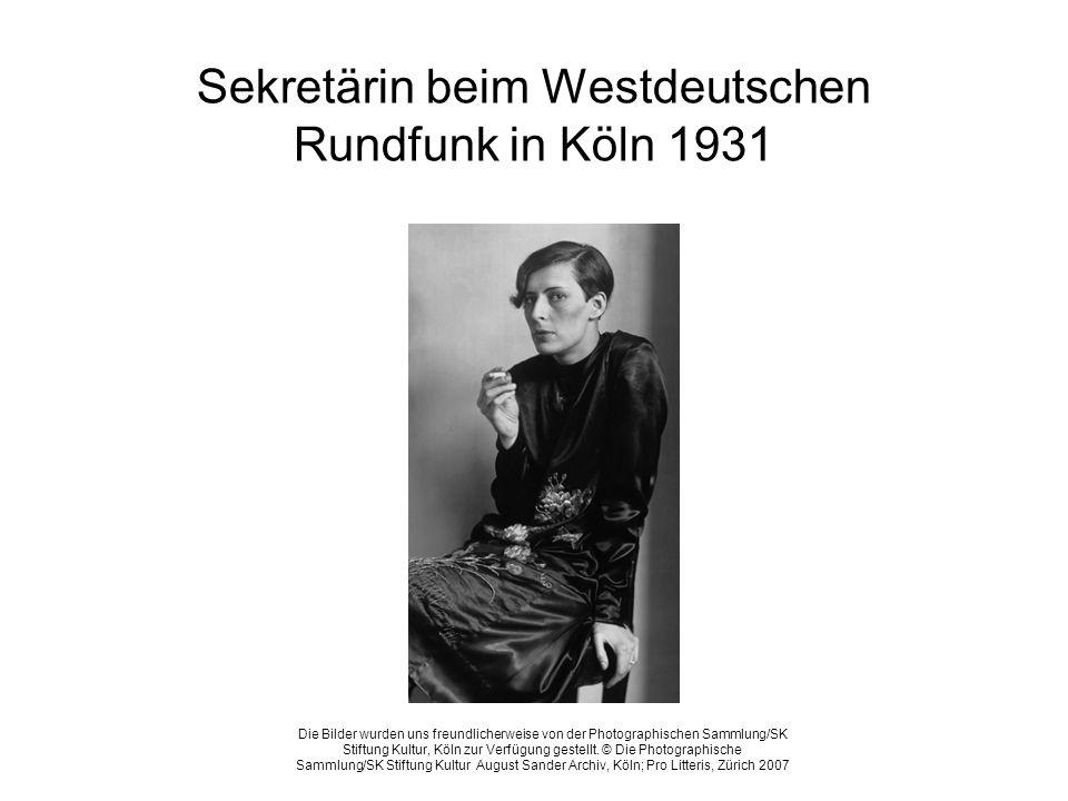 Sekretärin beim Westdeutschen Rundfunk in Köln 1931