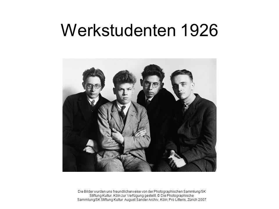 Werkstudenten 1926