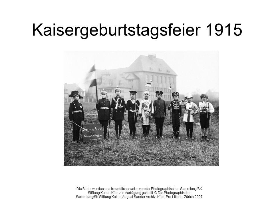 Kaisergeburtstagsfeier 1915