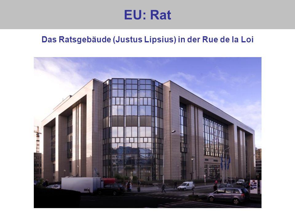 Das Ratsgebäude (Justus Lipsius) in der Rue de la Loi