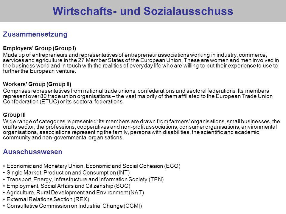 Wirtschafts- und Sozialausschuss