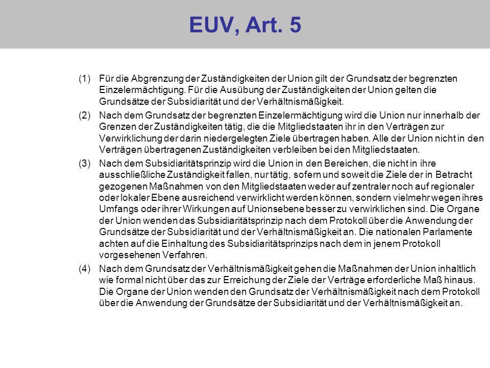 EUV, Art. 5