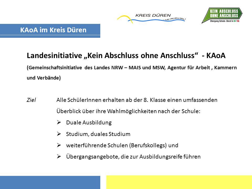 """Landesinitiative """"Kein Abschluss ohne Anschluss - KAoA"""