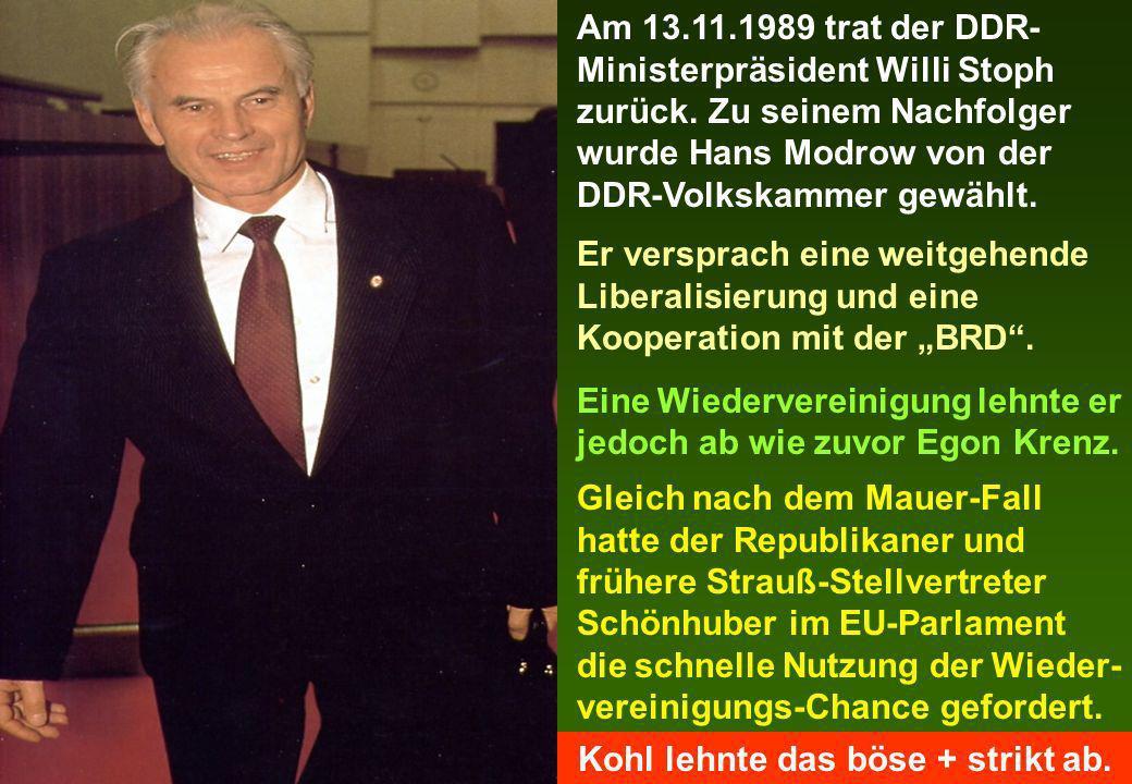 Kohl lehnte das böse + strikt ab.