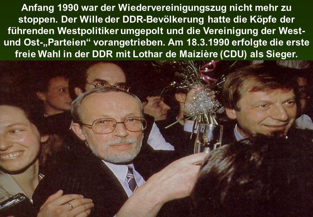 Anfang 1990 war der Wiedervereinigungszug nicht mehr zu stoppen