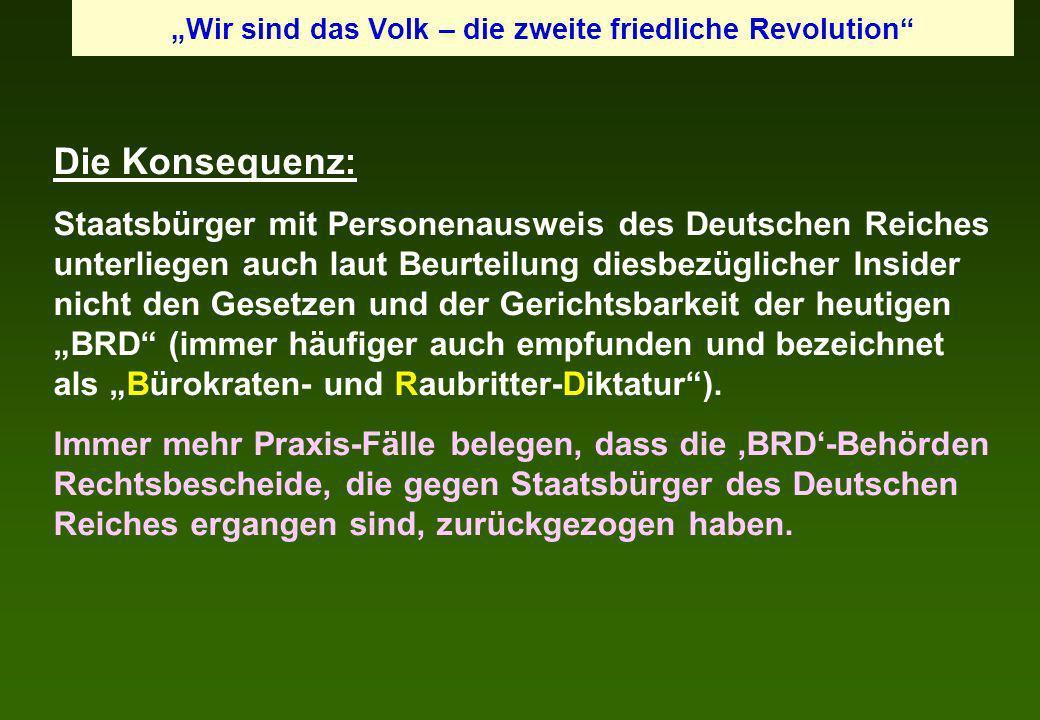 """""""Wir sind das Volk – die zweite friedliche Revolution"""