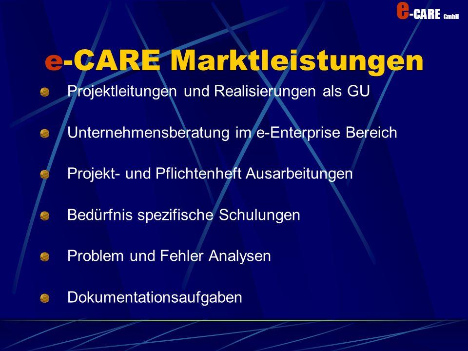 e-CARE Marktleistungen