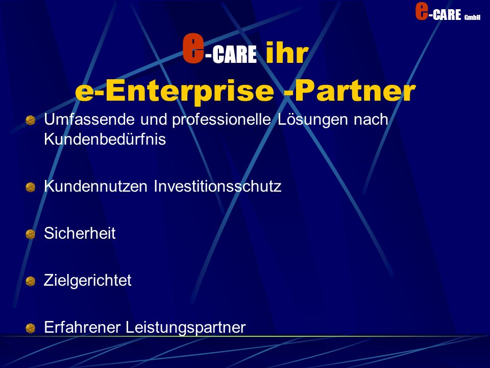 e-CARE ihr e-Enterprise -Partner