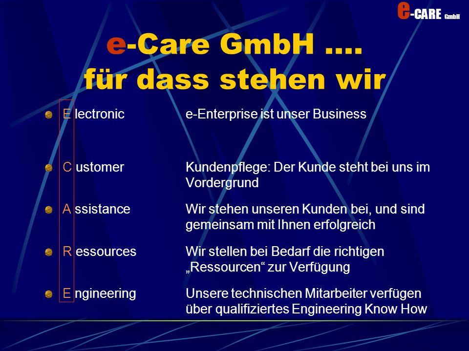 e-Care GmbH .... für dass stehen wir