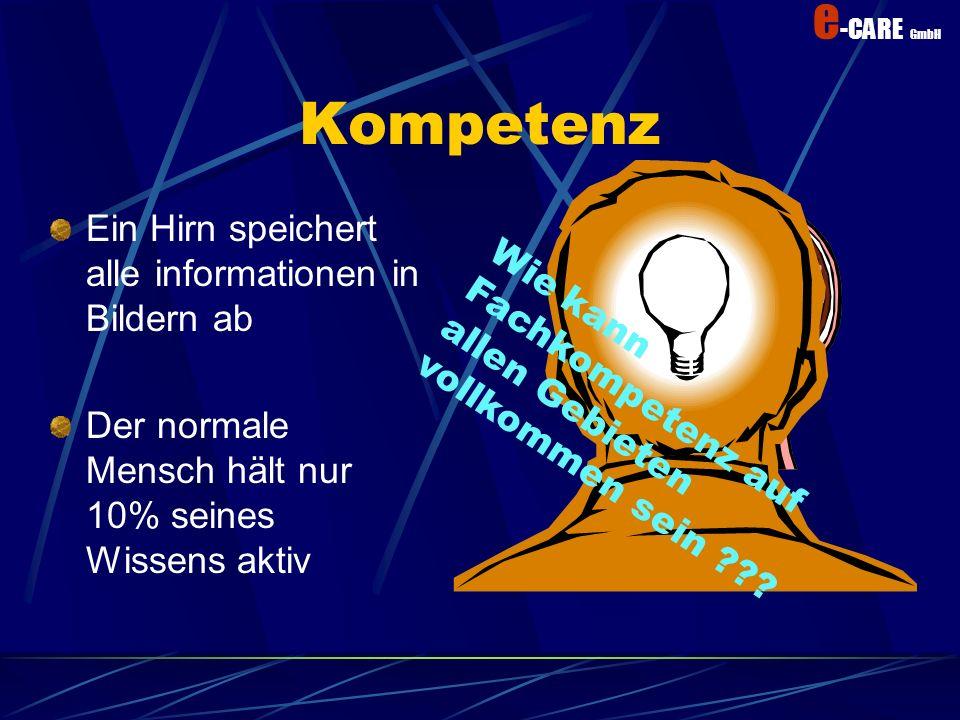 Kompetenz Ein Hirn speichert alle informationen in Bildern ab