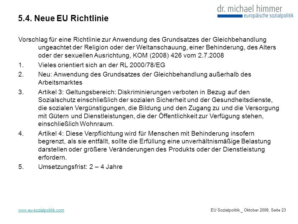 5.4. Neue EU Richtlinie