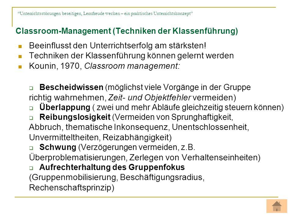 Classroom-Management (Techniken der Klassenführung)