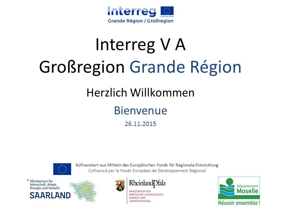 Interreg V A Großregion Grande Région