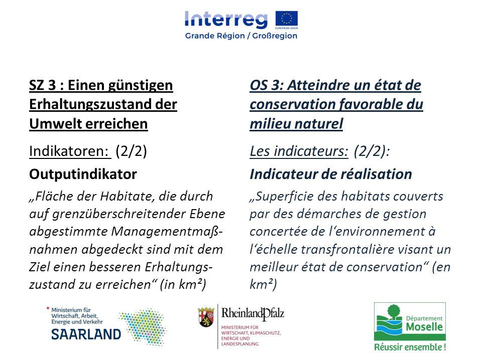 SZ 3 : Einen günstigen Erhaltungszustand der Umwelt erreichen