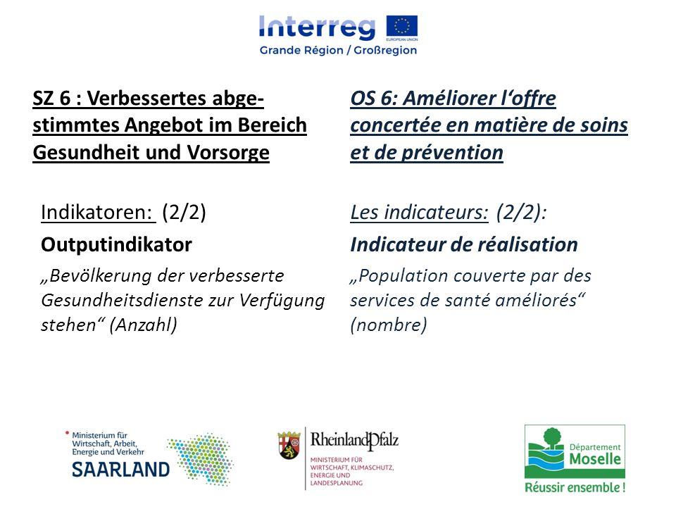 OS 6: Améliorer l'offre concertée en matière de soins et de prévention