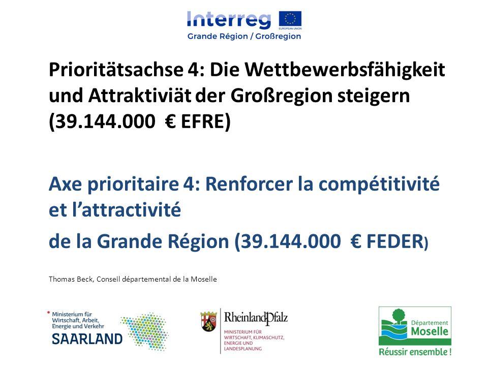 Axe prioritaire 4: Renforcer la compétitivité et l'attractivité
