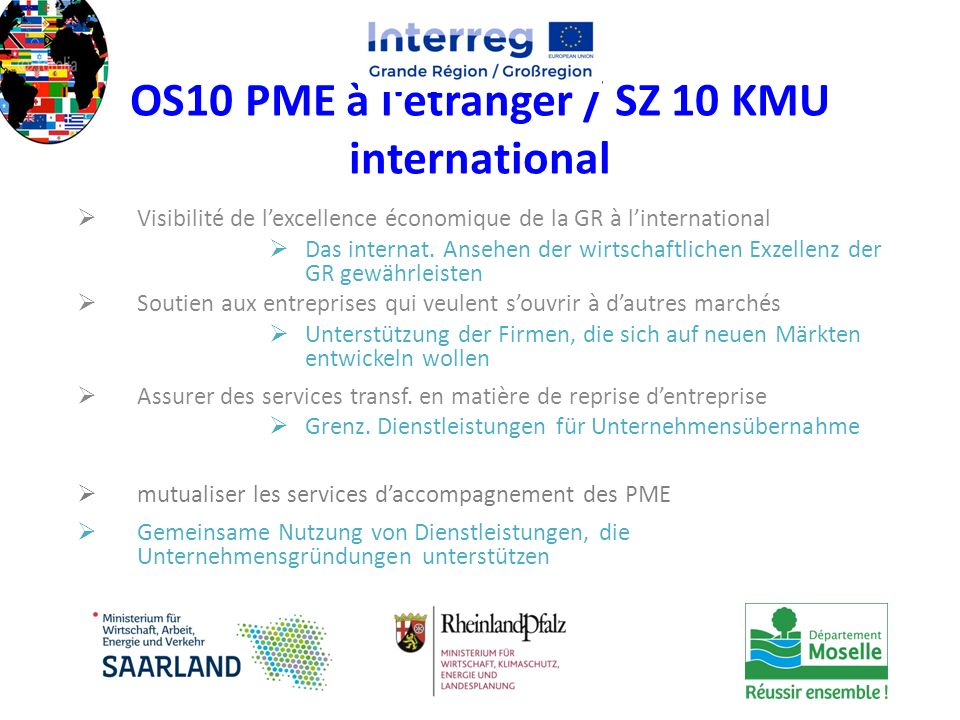OS10 PME à l'étranger / SZ 10 KMU international