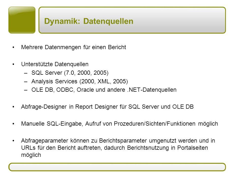 Dynamik: Datenquellen