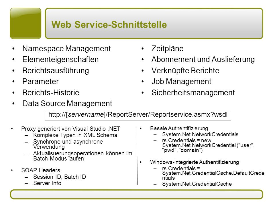 Web Service-Schnittstelle