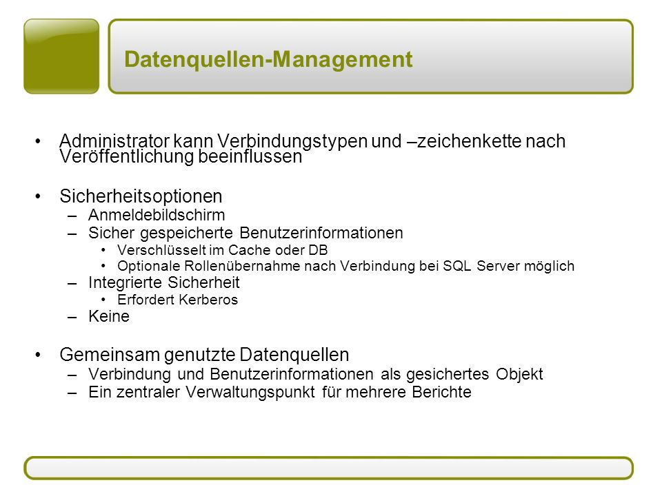 Datenquellen-Management