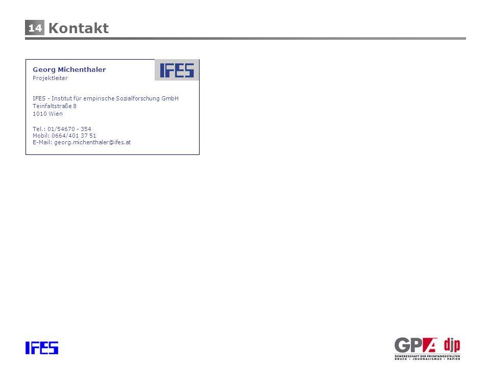 Kontakt Georg Michenthaler Projektleiter