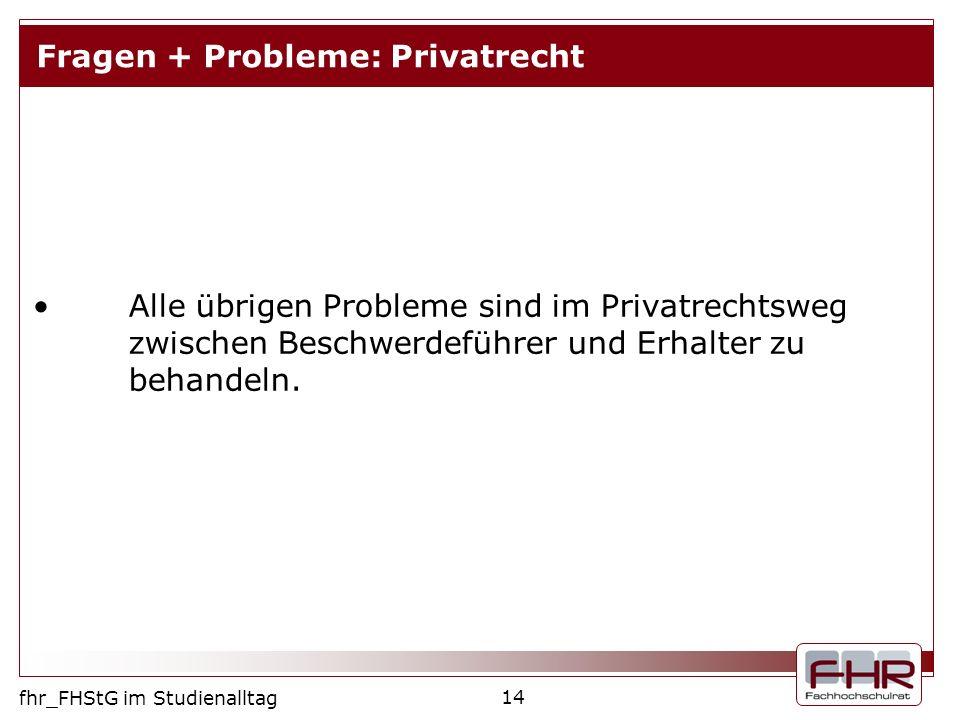Fragen + Probleme: Privatrecht