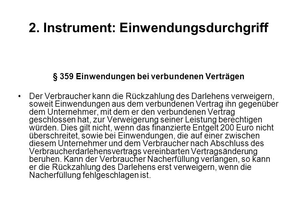 2. Instrument: Einwendungsdurchgriff