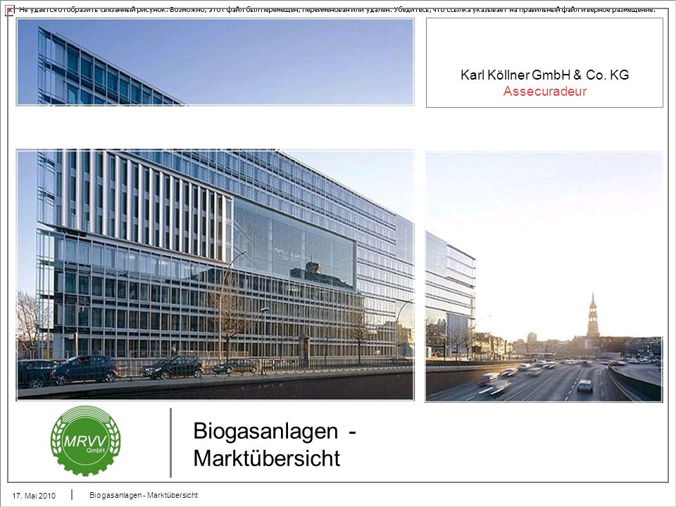 Biogasanlagen - Marktübersicht