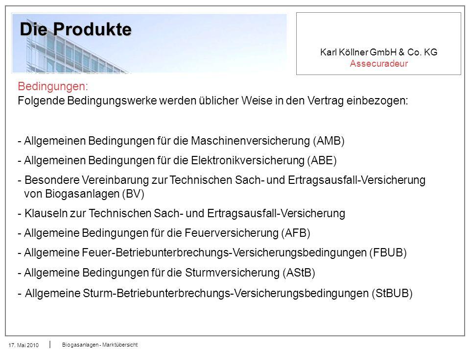 Die Produkte Bedingungen: