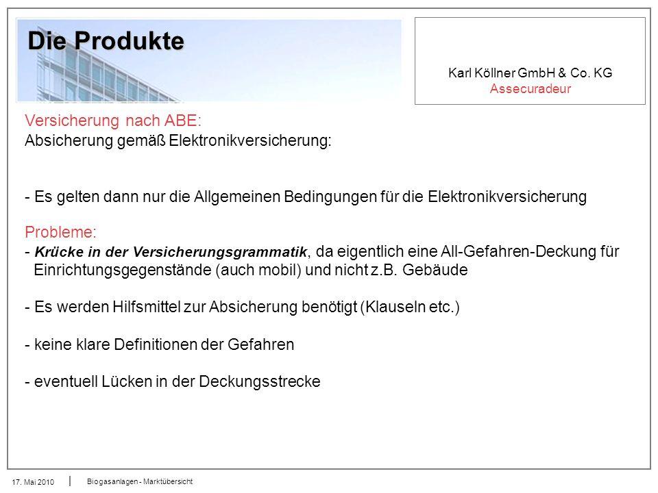 Die Produkte Versicherung nach ABE: