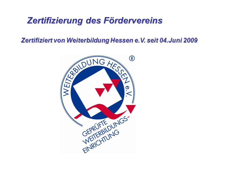 Zertifizierung des Fördervereins