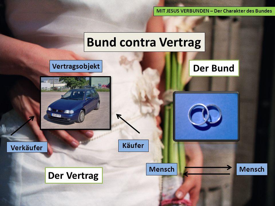 Bund contra Vertrag Der Bund Der Vertrag Vertragsobjekt Käufer