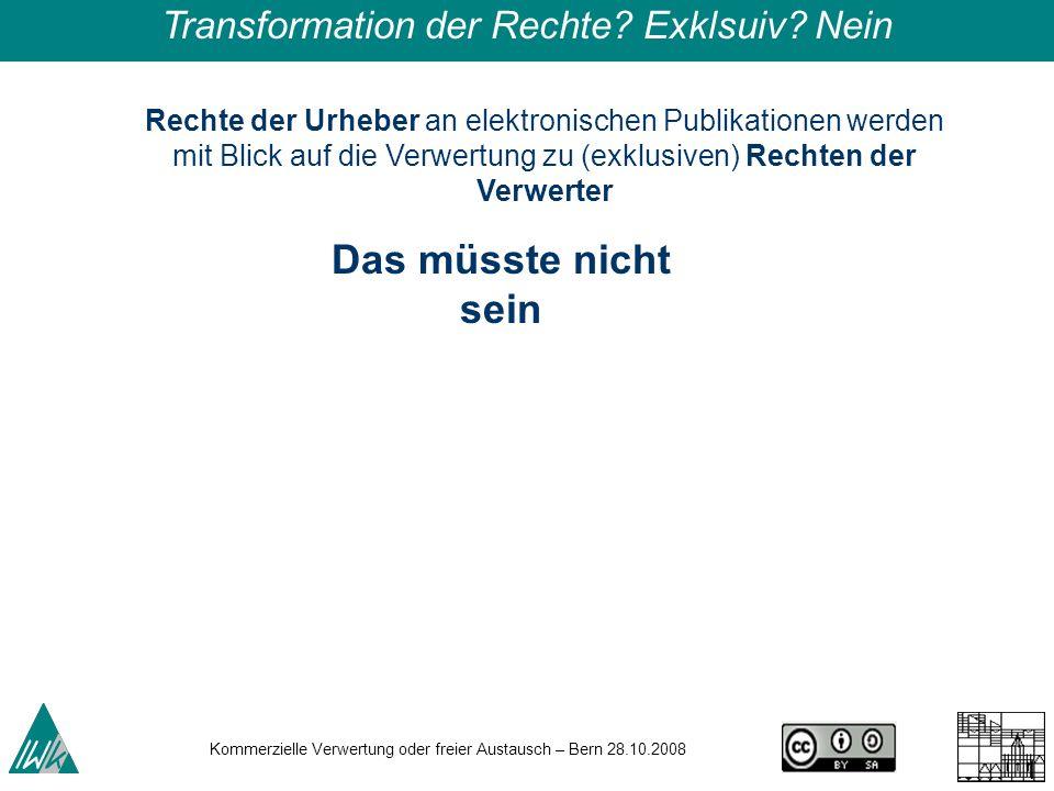 Transformation der Rechte Exklsuiv Nein